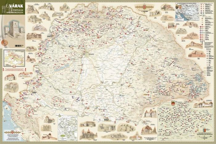 magyar várak térkép A történelmi Magyarország várai látványtérképen magyar várak térkép